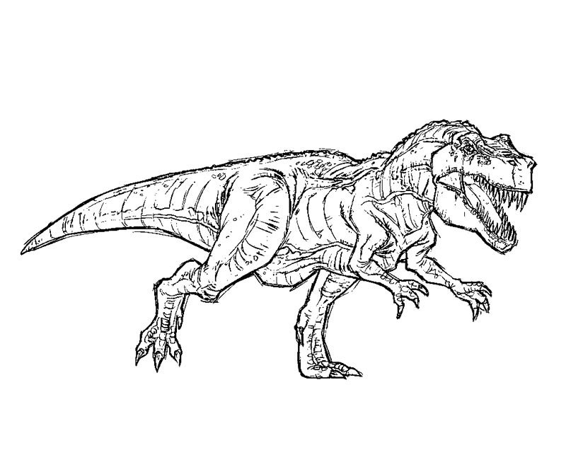 Jurassic Park T Rex Drawing at GetDrawings.com | Free for personal ...