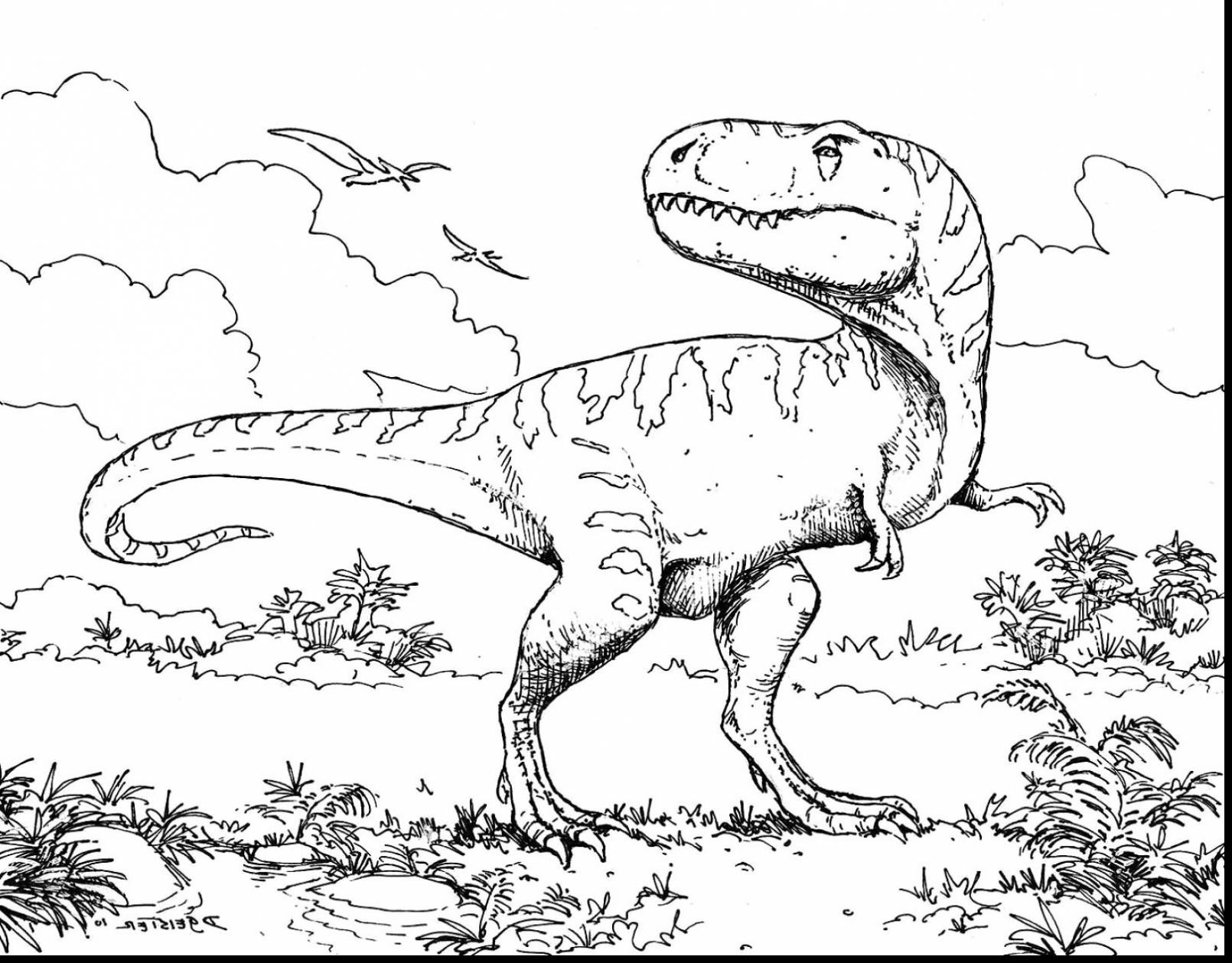 1610x1259 Jurassic Park T Rex Coloring Pages Free Draw To Color
