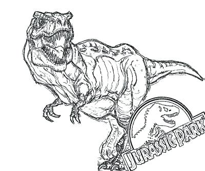 400x333 Dilophosaurus Coloring Page Line Drawing For Coloring Books