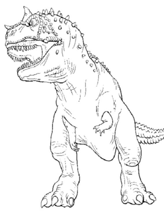 568x757 T Rex Coloring Page Jurassic World