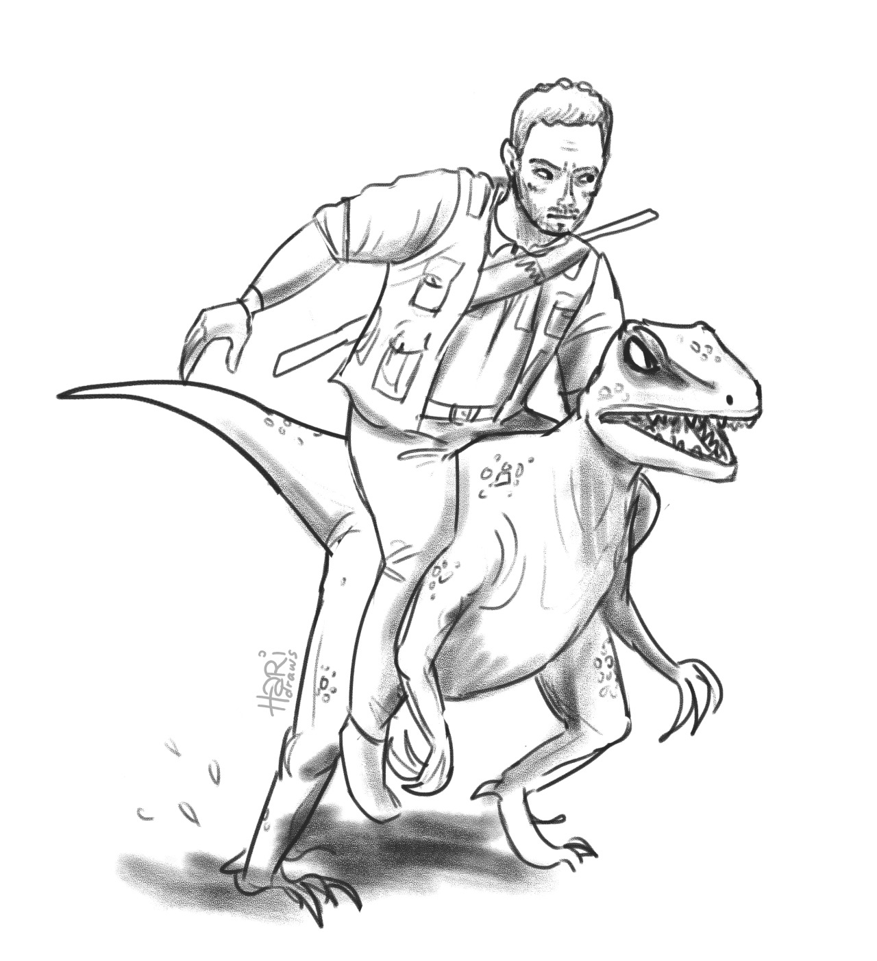 1280x1402 Drew This Dumb Warmup Because I Thought Jurassic