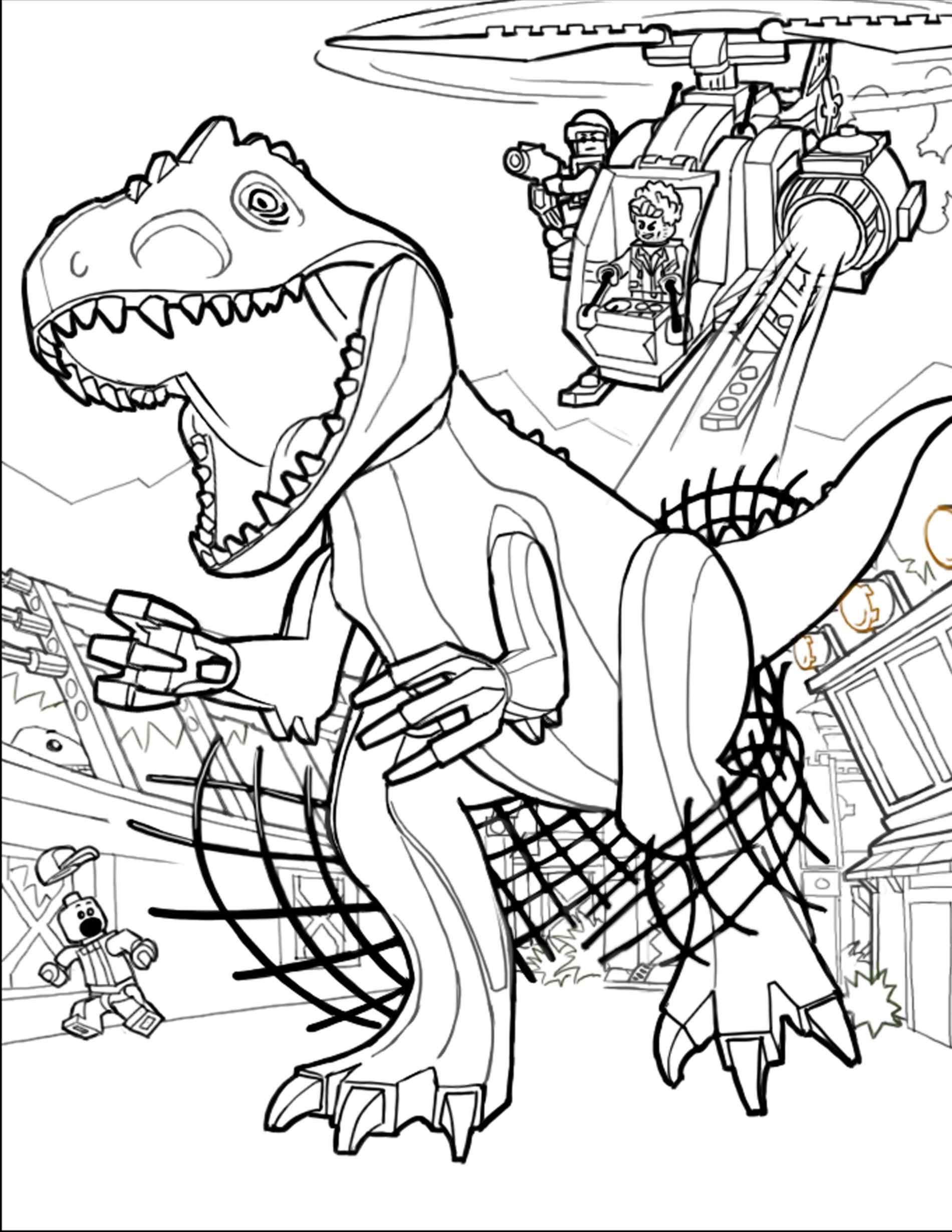 Jurassic World Indominus Rex Drawing at GetDrawings | Free ...