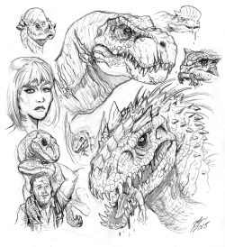 250x274 Art Bryce Dallas Howard Chris Pratt Jurassic Park Sketches T Rex