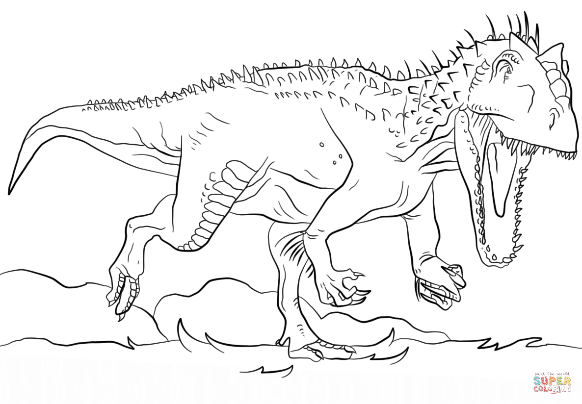 1186x824 Jurassic Park Coloring Page For Kids
