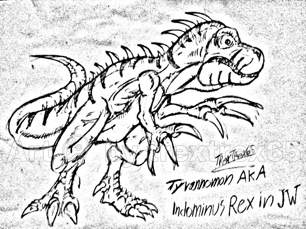 1024x768 Tyrannomon Aka Indominus Rex In Jw By Crashbandicoot2015