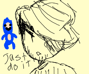 300x250 Just Do It Meme And Sanic's Child (Drawing By Vixrene)