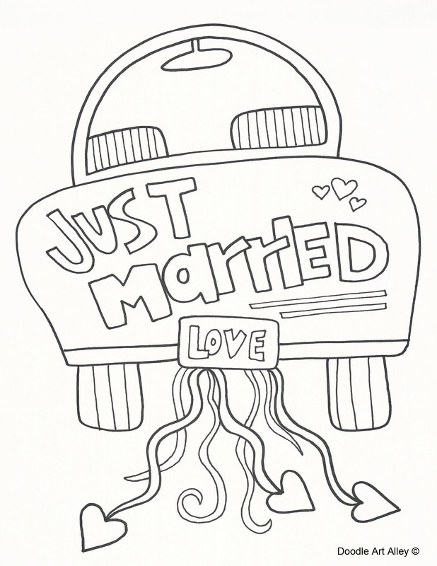 just married car drawing at getdrawings  free download