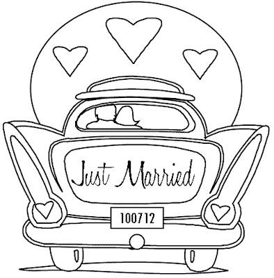 394x400 Kitschy Fun Just Married Dress Embroidery For Your Honeymoon