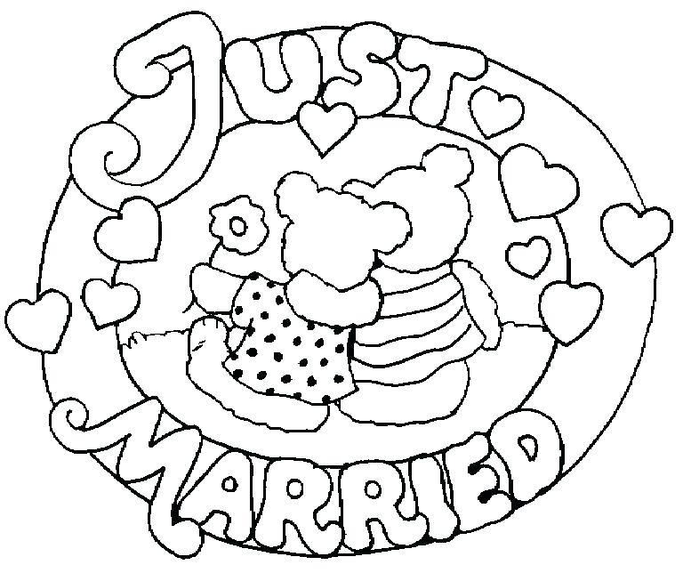 768x644 Barbie Car Coloring Pages Just Married Coloring Page Per A Just