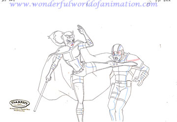 360x248 Justice League Unlimited Production Drawing Animation Art