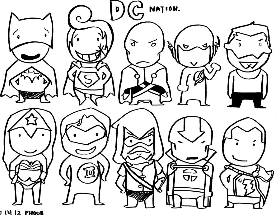 900x691 Justice League By Phoobers