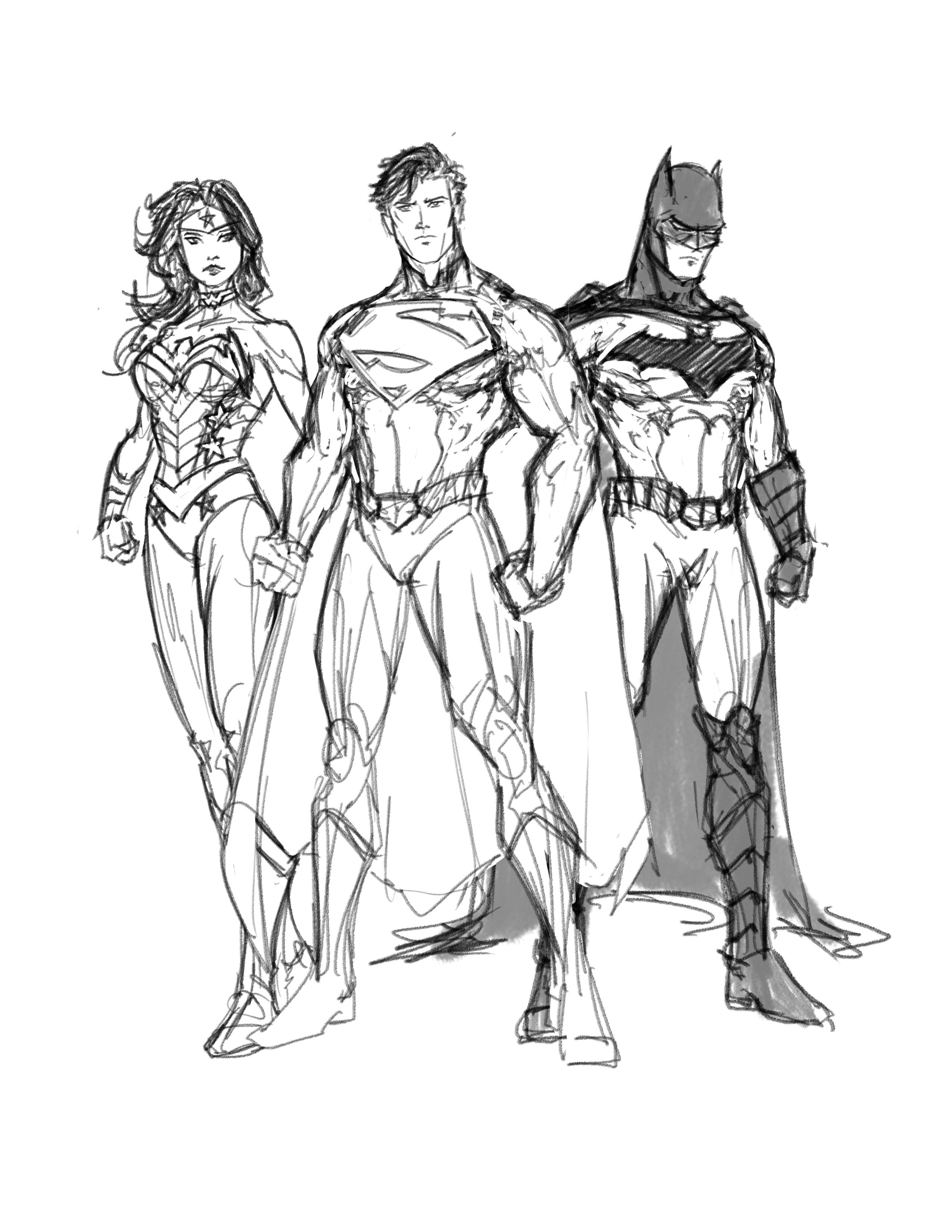 2550x3300 Justice League In Progress By Randomality85