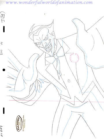 360x481 Justice League Of America (Jla) Production Drawing Animation Art