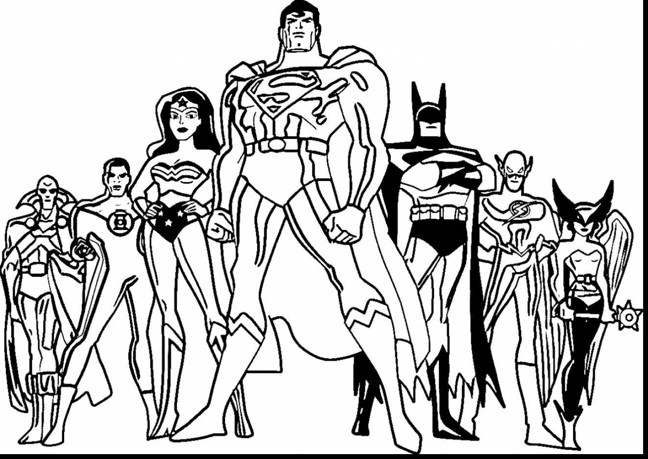 1323x938 Coloring Pages Delightful Justice League Kids
