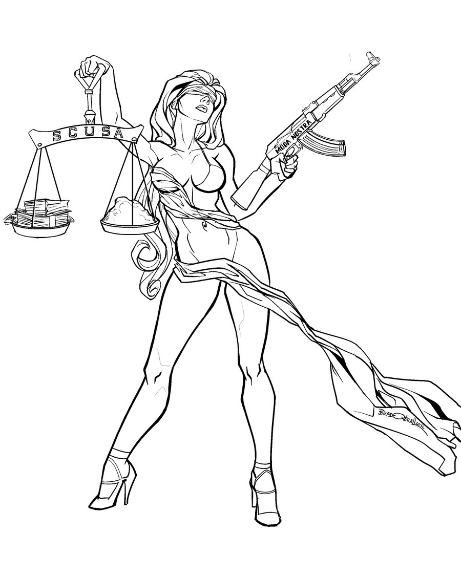 900x1125 Lady Justice By On @ Dibujos
