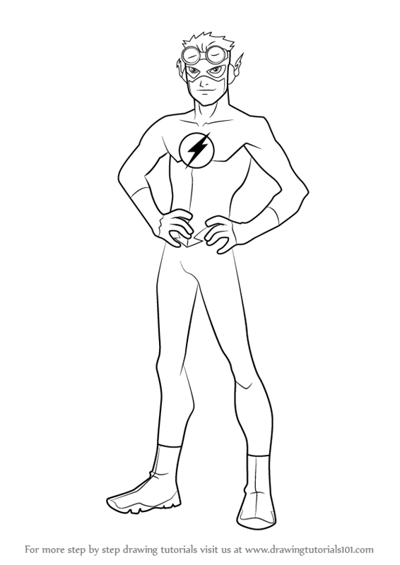 566x800 Learn How To Draw Kid Flash From Young Justice (Young Justice