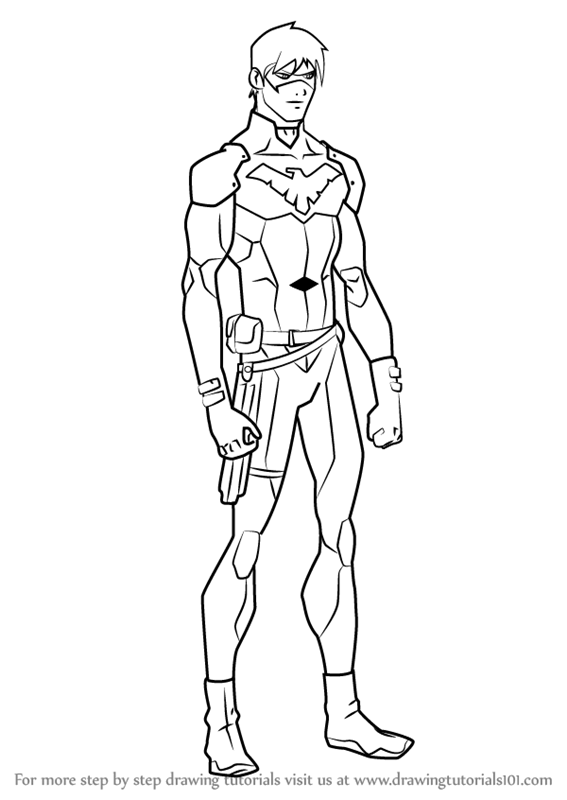 567x800 Learn How To Draw Nightwing From Young Justice (Young Justice