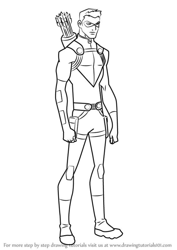 567x800 Learn How To Draw Red Arrow From Young Justice (Young Justice