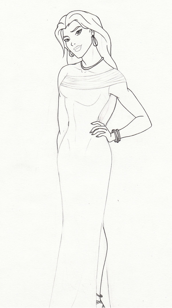 600x1076 Young Justice Evening Gowns Artemis Lineart By Gossamerwing