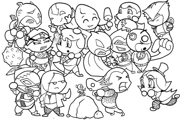 600x404 Justice League Chibis By Skyloreang