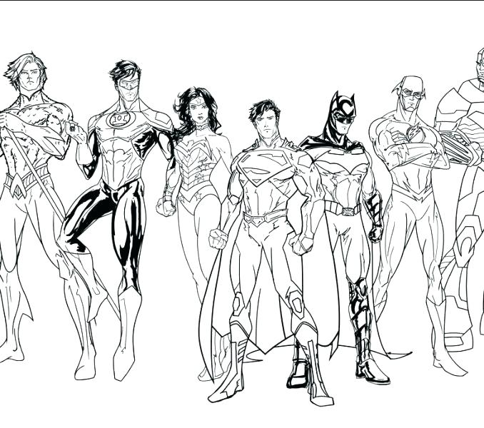678x600 Justice League Coloring Book Together With Superheroes 34