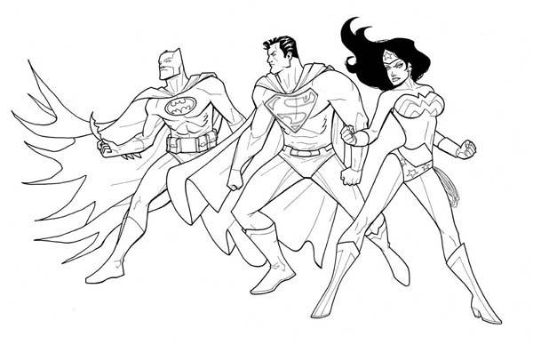 600x388 Justice League Coloring Pages