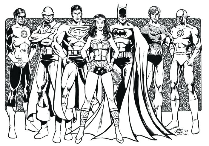 700x488 Justice League Coloring Pages To Print Justice League By Justice