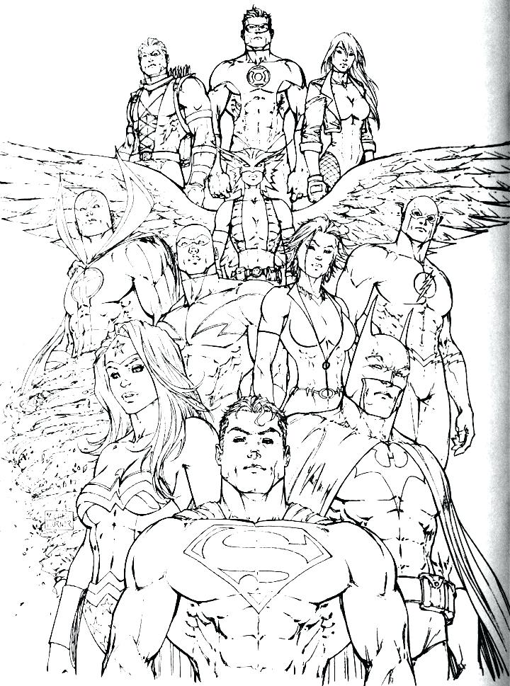 720x969 Justice League Coloring Pictures Kids Drawing Of Justice League