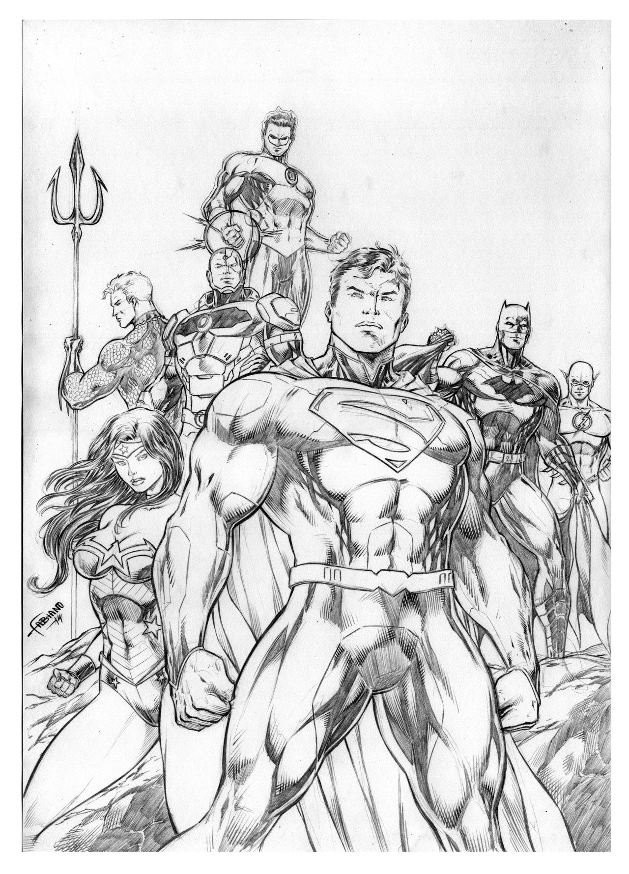 1280x1779 Justice League By Fabiano Ribeiro Artist Fabiano Ribeiro