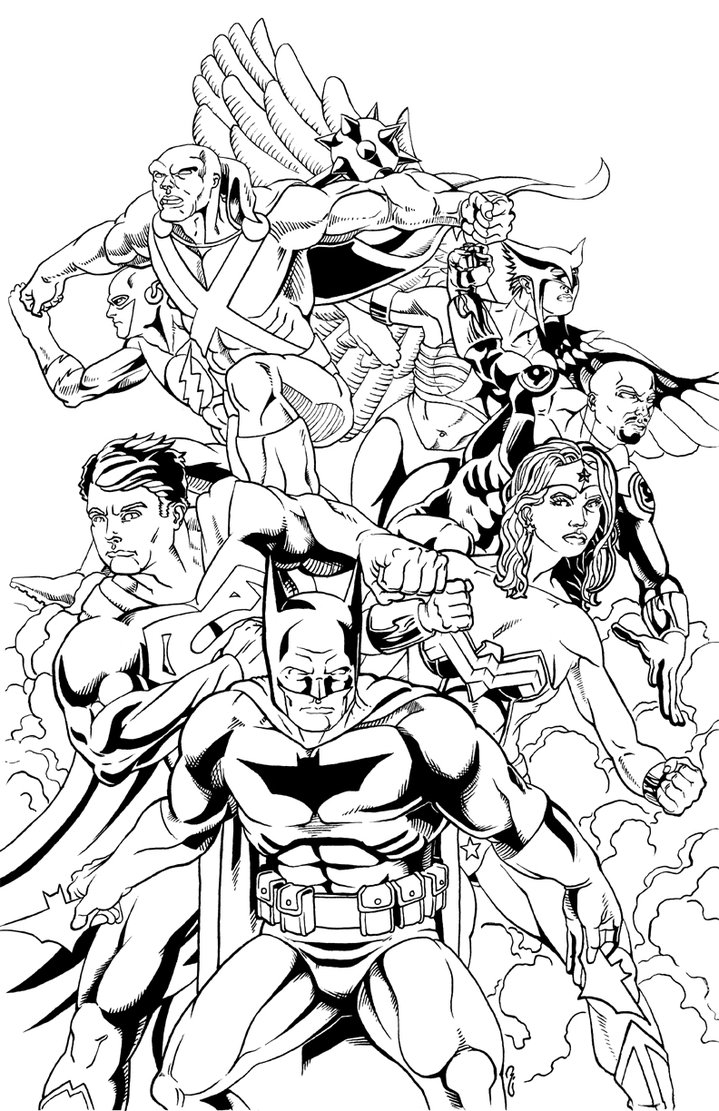 719x1111 Justice League Of America Ink By Thelearningcurv On DeviantArt