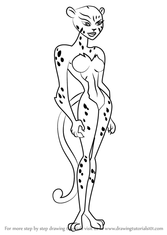 567x800 Learn How To Draw Cheetah From Justice League (Justice League
