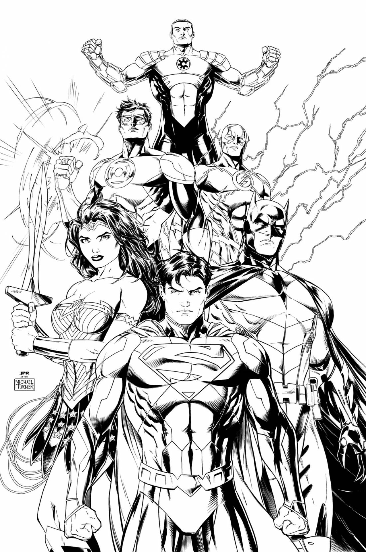 Justice League Drawing at GetDrawings.com | Free for personal use ...