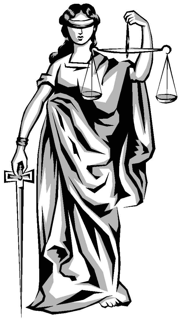 Justice Scale Drawing