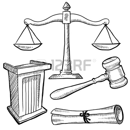 450x450 Doodle Style Scales Of Justice Vector Illustration Stock Photo
