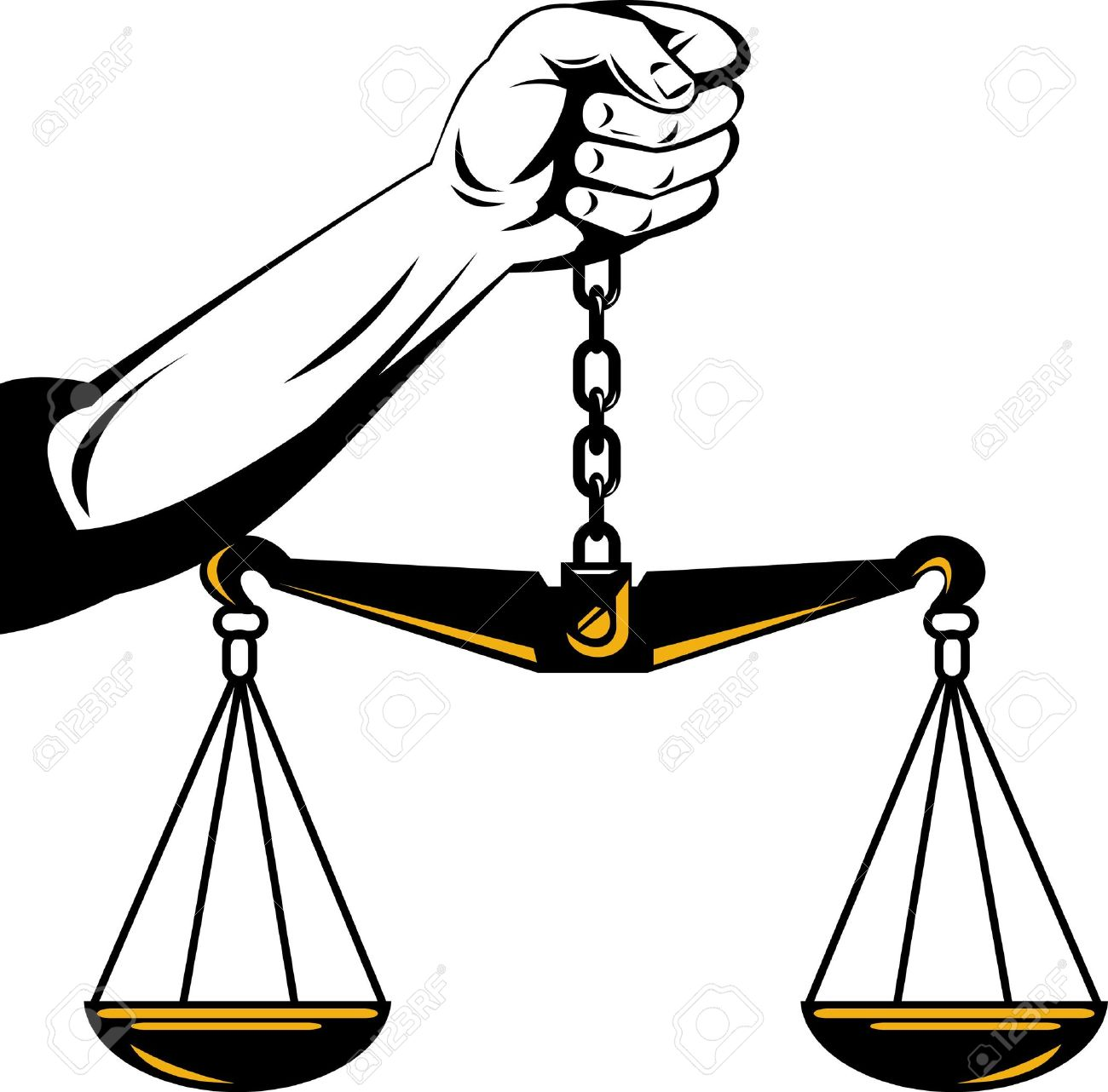 1300x1282 Hand Holding Scales Of Justice Stock Photo, Picture And Royalty