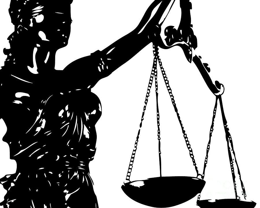 900x720 Lady Justice Poster Black White Digital Art By Flo Karp