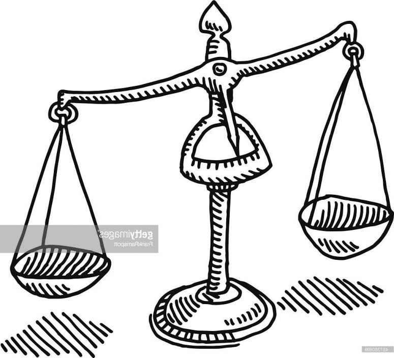 775x704 Top 10 Scales Of Justice Drawing Vector Image