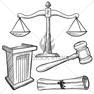 325x325 Unbalanced Scales Of Justice Sketch Gl Stock Images