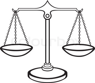 320x280 Vector Set Of Gold And Silver Scales Of Justice Stock Vector