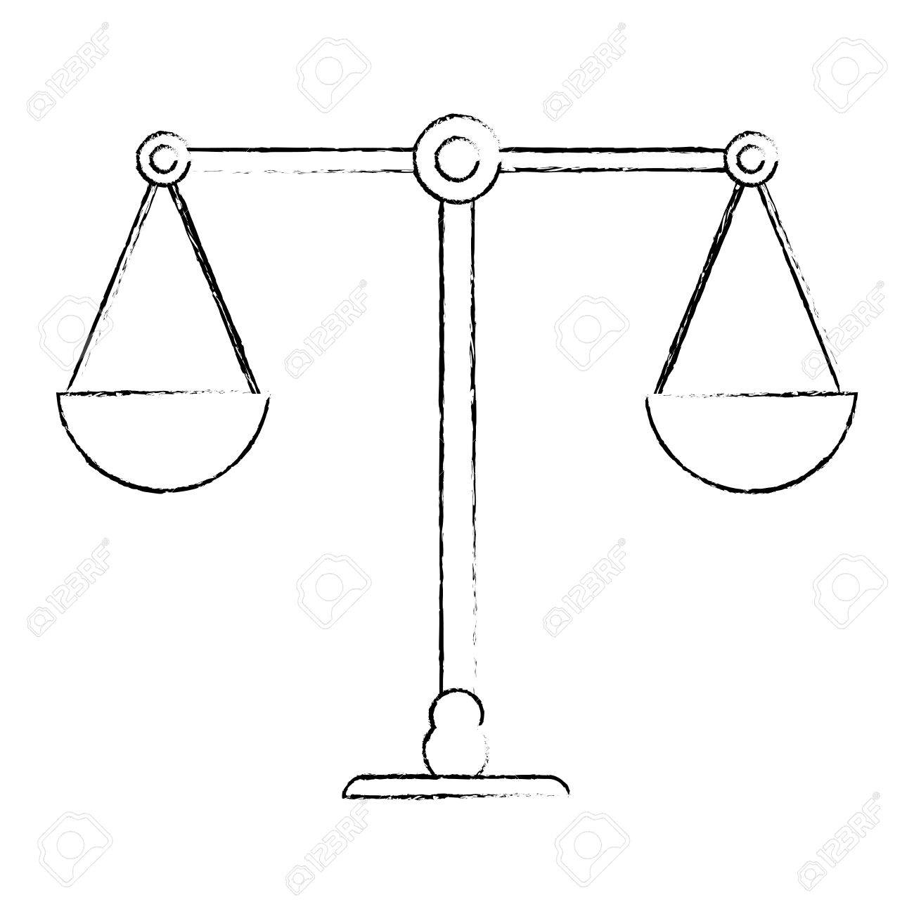 1300x1300 Balance Justice Equality Image Sketch Vector Illustration Eps