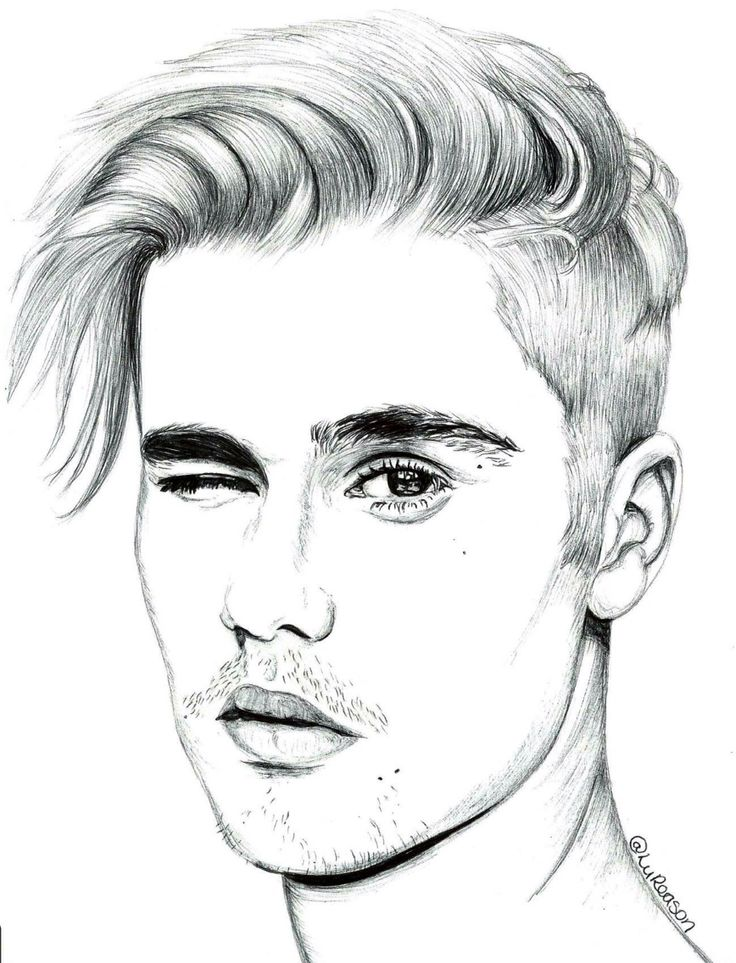 Justin Bieber Cartoon Drawing