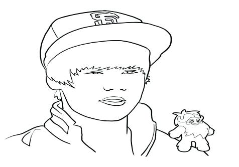 476x333 Justin Bieber Coloring Page Coloring Pages To Print Out On Cartoon