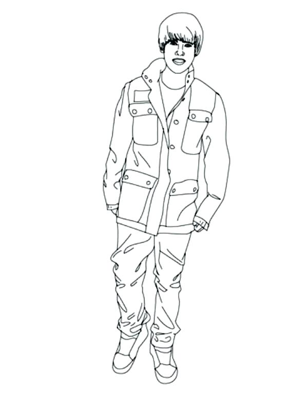 600x770 Justin Bieber Coloring Pages Coloring Page Cartoon Justin Bieber