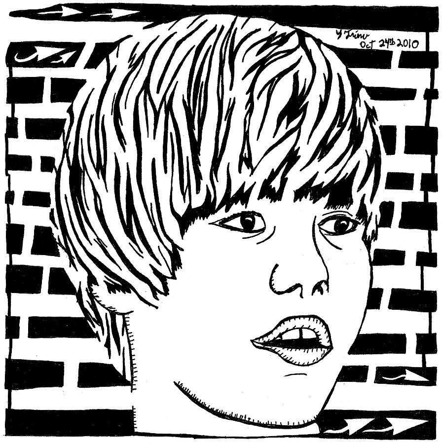 896x900 Justin Bieber Maze Portrait Drawing By Yonatan Frimer Maze Artist
