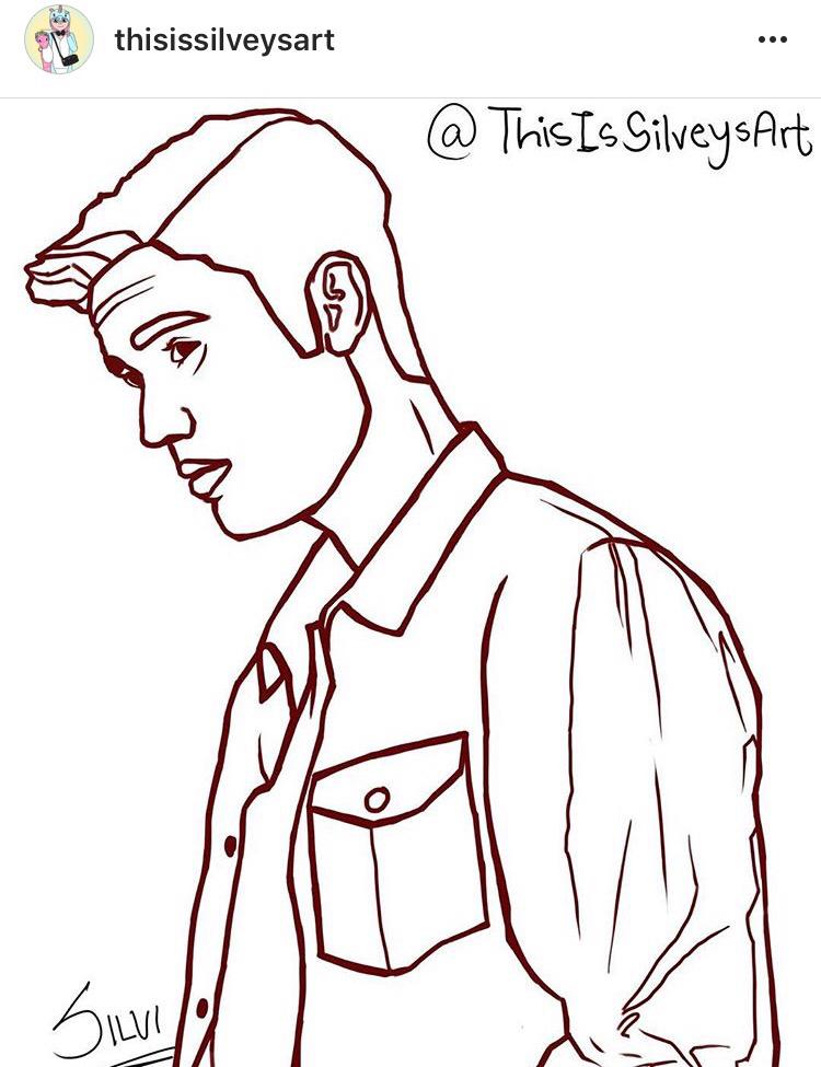 750x975 Justin Bieber Illustration And Cartoon Sketch Drawing