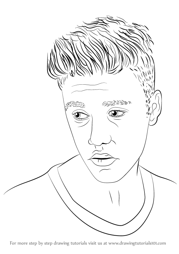 596x843 Step By Step How To Draw Justin Bieber