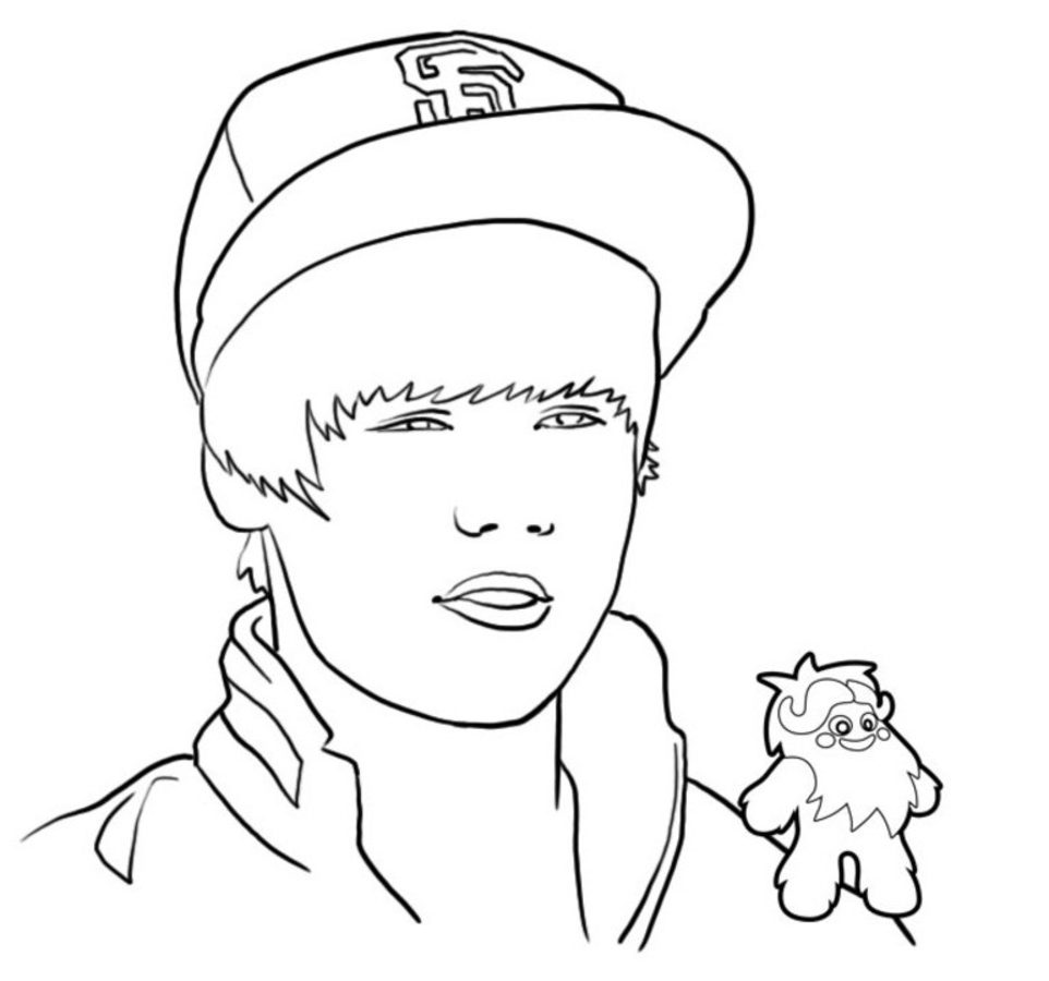 962x900 Wonderful Justin Bieber Caricature Coloring Page Printable