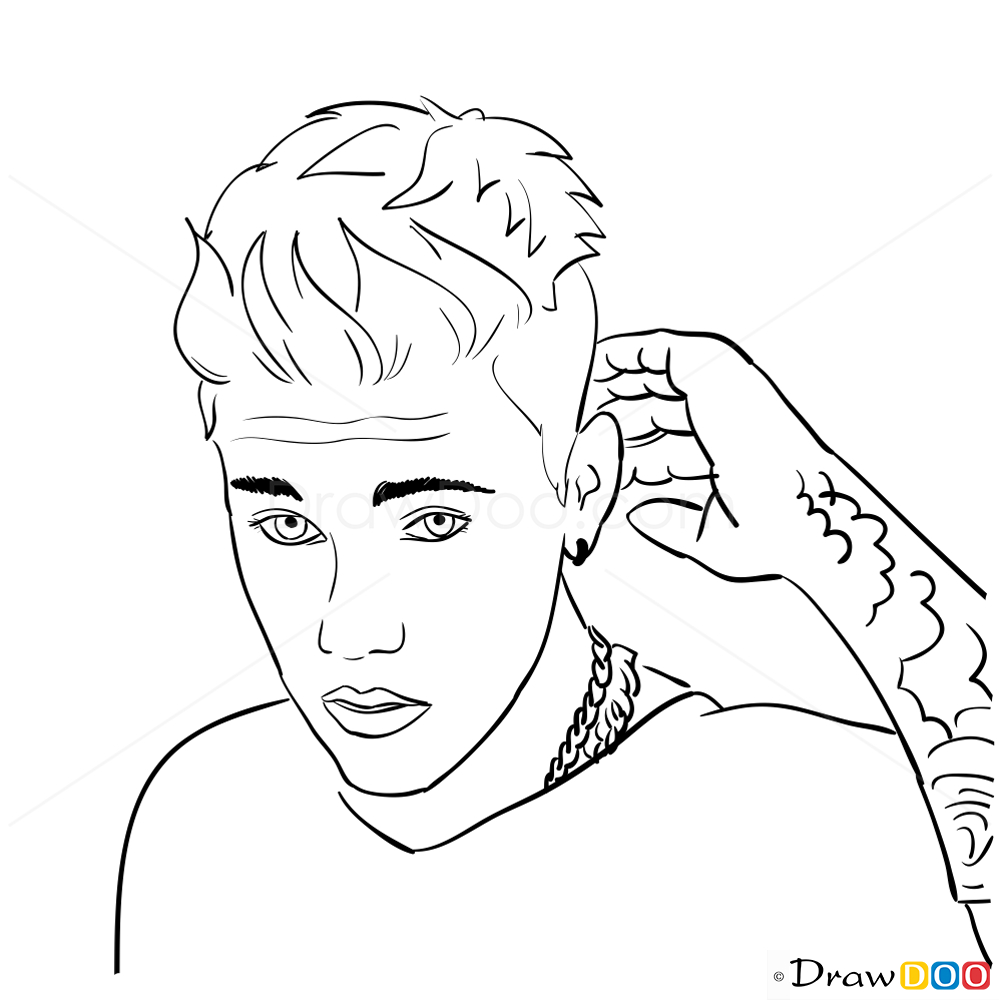 Magnífico Libro De Colorear Justin Bieber Embellecimiento - Dibujos ...