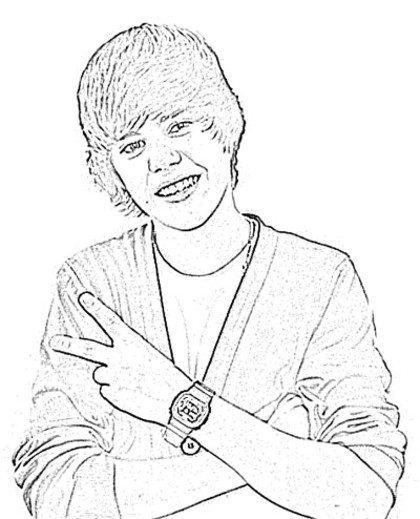 420x519 Bieber Coloring Pages 6