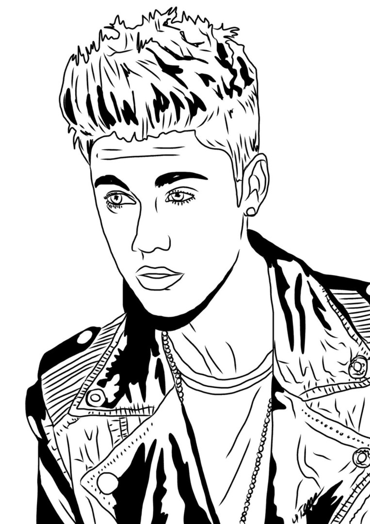 763x1080 Httpcolorings.cojustin Bieber Coloring Pages